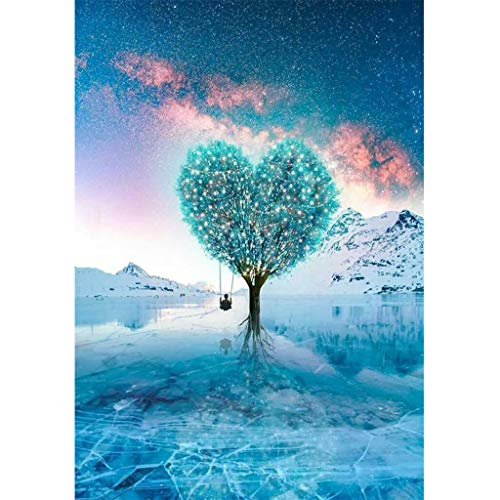 JDgoods DIY 5D Diamond Painting Kits for Adults, Fantasy Flower Plant Full Drill Embroidery Paintings Rhinestone Pasted DIY 30x40cm Christmas Painting Cross Stitch (A)]()