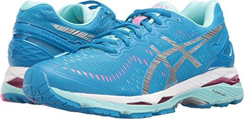 ASICS Women's Gel-Kayano 23 Running Shoe, Diva Blue/Silver/Aqua Splash, 8 M US (Dive Stretch Glove)