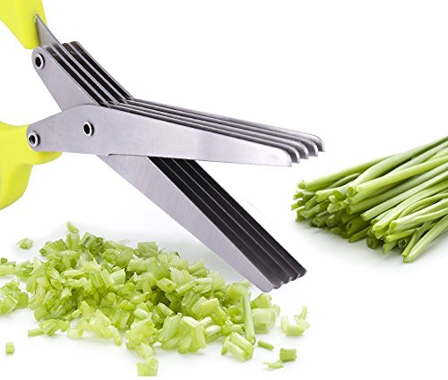 axp Herb Scissors Kit: Herb Shear with 5 Stainless Steel Blades, Herb Scissors Cover and Cleaning Comb