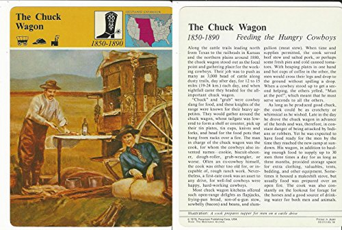 1979 Panarizon, Story Of America, 05.18 Chuck Wagon, Wild West