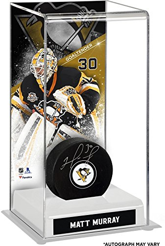 Matt Murray Pittsburgh Penguins Autographed Puck with Deluxe Tall Hockey Puck Case - Fanatics Authentic Certified
