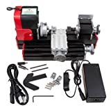 JIAN YA NA Mini Metal Lathe DIY Mini Lathe Wood Metal Motorized Machine 20000rev/m Woodworking Hobby Tool