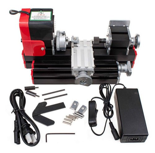 JIAN YA NA Mini Metal Lathe DIY Mini Lathe Wood Metal Motorized Machine 20000rev/m Woodworking Hobby Tool by Jian Ya Na
