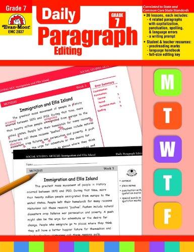 Daily Paragraph Editing, Grade 7: Evan Moor: 9781609638320: Amazon ...