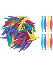 100pcs Dental Rubber Bands Placers, Orthodontic Placers Tool for Braces Bands Multi‑Color