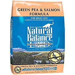Natural Balance Limited Ingredient Diets Green Pea & Salmon Formula Dry Cat Food – 10 lb