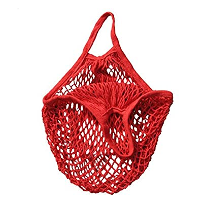Cotton Net Shopping Tote Ecology Market String Bag Organizer, Two Years,Mesh Reusable Fruit Storage Handbag Totes New