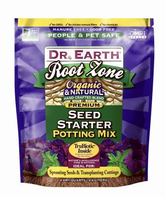 Dr. Earth 821 Root Zone Seed Starter Potting Mix, Organic, 4-Qts. - Quantity 12