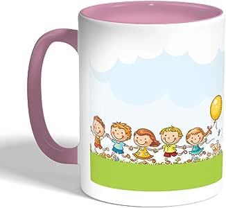 Happy eid Printed Coffee Mug, Pink Color