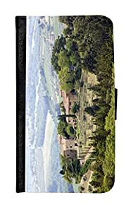 Rikki KnightTM Typical Tuscan Houses In The Hills Of Tuscany Design Galaxy S5 Premium PU Leather Wallet Type Flip Case with Magnetic Flap for Samsung Galaxy S5 i9500