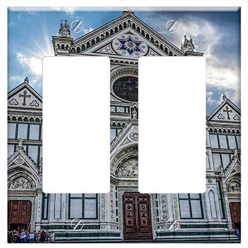 Switch Plate Double Rocker/GFCI - Santa Croce Basilica Santa Croce Temple Church
