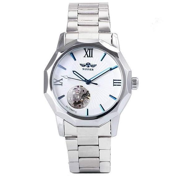 Winner Classic - Reloj de Pulsera mecánico para Hombre, diseño de Esqueleto: Amazon.es: Relojes