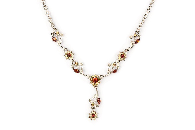 Damen Trachten Halskette - BLUMENRANKE -