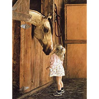 Little Whispers By Lesley Harrison Boy Horse Print 13x17