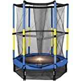 55'' My First Round Rust resistant Trampoline , Blue and Yellow
