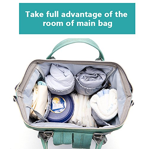 Baby Diaper Bag Backpack,NUTK Multi-Function Waterproof Nappy Bags,Large Durable