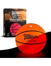 LED Light Up Basketball with 2 Bright Inner Lights| Glow in the Dark Night Play with International Standard Size Basketball| Perfect Boys Gift| Rugged Construction with Spare Batteries, Two Replacement Lights & Pump Included