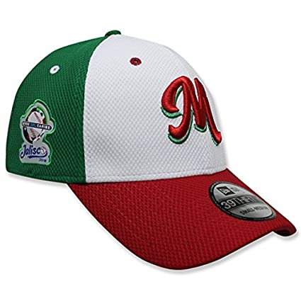 a33d7d99d8ee9 New Era Gorra 3930 México Serie del Caribe White Front Red  Amazon ...