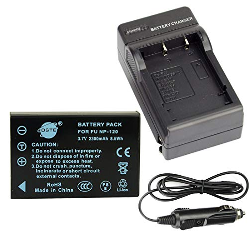 (FidgetGear NP-120 Battery + Charger for Finepix F10 F11 603 M603 Zoom Camera)