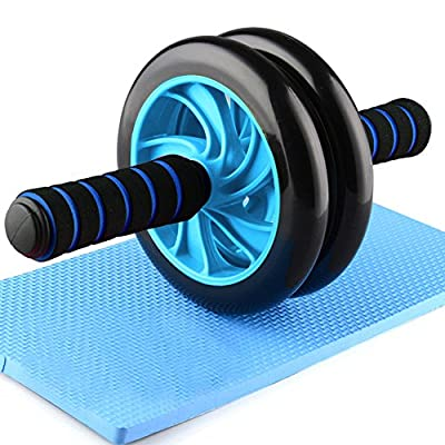 Forestfish Ab Roller Wheel Core Training Exercise Roller Abdominal Fitness Workouts Pushups Training with Knee Pad for Man Woman Home Gym Equipment