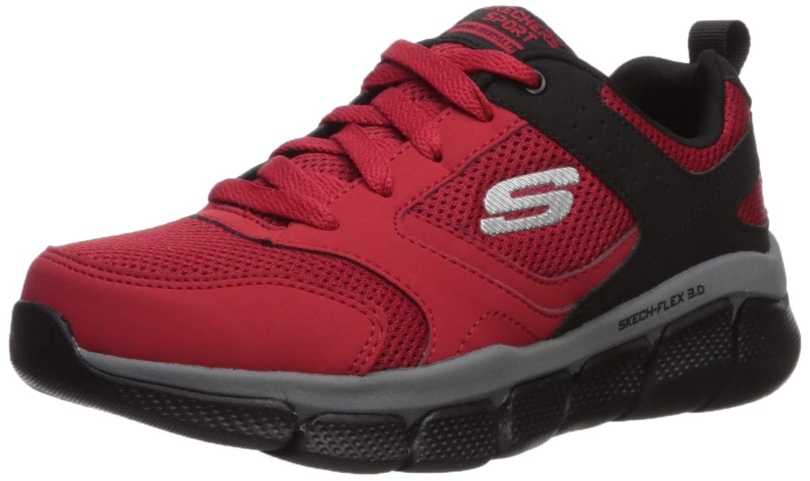 Skechers Kids Boys' Skech-Flex 3.0-WHITESHORE Sneaker, Red/Black, 5.5 M US Big Kid