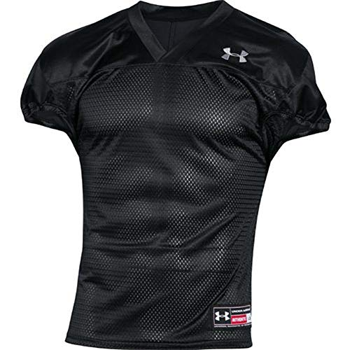 Steel Football Jersey - Men's Under Armour Football Practice Jersey Black/Steel Size Large