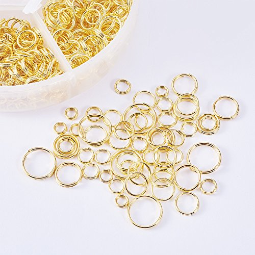 NBEADS Iron Open Jump Rings 4mm 5mm 6mm 7mm 8mm 10mm Box Set Jewelry Findings for DIY Jewelry Making and Craft Ideas (5mm Open Ring)