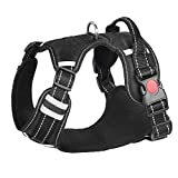 HITTIME No Pull Dog Harness Reflective Adjustable Front Clip Vest Harness with Handle