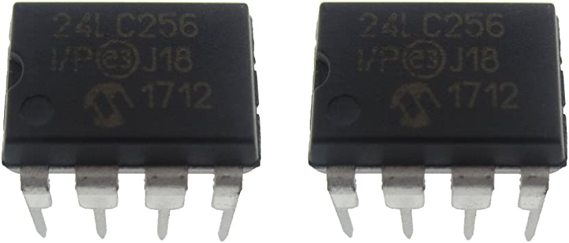 Amazon.com: 2 Piece 24LC256-I/P DIP-8 256K I2C EEPROM 32K x 8 Serial  400KHZ: Computers & Accessories