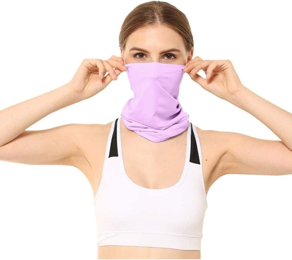 Multi-Functional Headwear//Bandana//Neck Gaiter,Neutral Outdoor Head Scarf Neck Windproof Face M-/à-s-k Sun protection Headband Hot Pink Face Shield