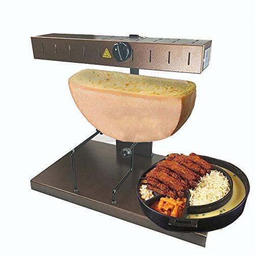Li Bai Commercial Raclette Machine Cheese Melter Electric For A Half of Cheese Wheel Height Adjustable 650W 110V(850A)