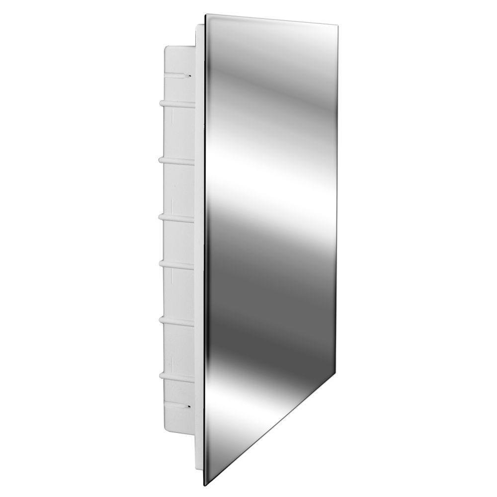 Spacecab 16 in. x 26 in. Recessed Frameless Medicine Cabinet with Polished Edge by Glacier Bay