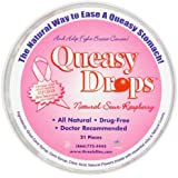 Three Lollies Queasy Drops Pink Supporting Breast Cancer Awareness, 21 Count