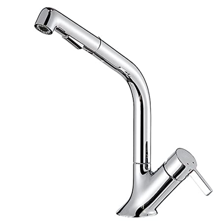 Grifo Pull-Type Faucet Cobre Caliente y Fría Solo Hoyo ...