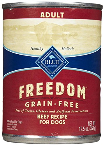Blue Buffalo Blue Freedom Adult Dog Beef Dinner Food, 12 by 12 oz.