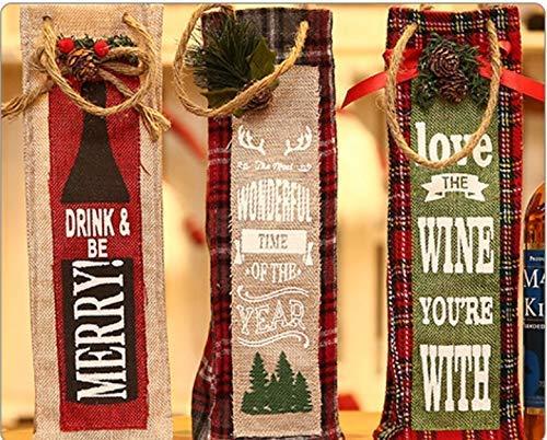 SDJ Navidad Navidad Conjuntos de botellas rojas Bolsas de regalo ...