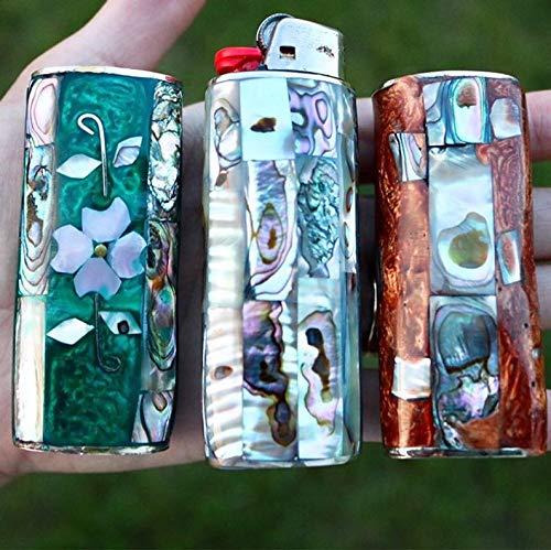 Handmade Lighter Abalone Gemstone Inlay /& Sterling Silver Lighter Case Lighter Re-usable Case Silver Lighter Case Lighter Cover