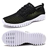 FCKEE Quick Drying Mesh Water Aqua Shoes for Men and Women,MBD,Black-37