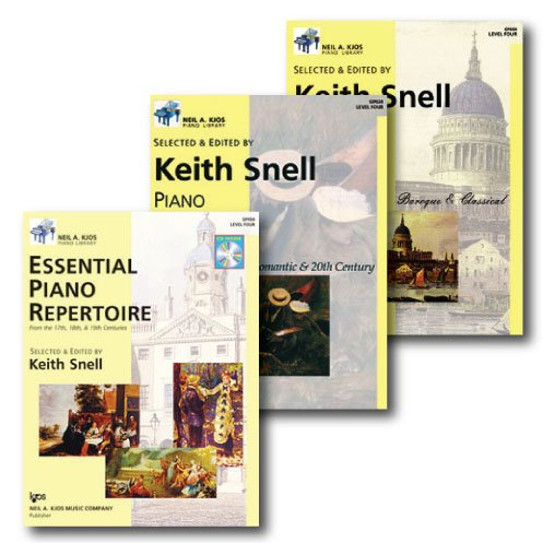 Neil A. Kjos Piano Library Piano Repertoire Level Four - Three Book Set - Includes Romantic & 20th Century, Baroque & Classical, and Essentials Repertoire ()