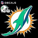 Stockdale Technologies Miami Dolphins 12'' Logo Decal with Bonus Decal Vinyl Reusable Auto Home Football