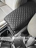 Honda Civic Leather Car Auto Center Armrest Console Lid Box Cover Protector Black