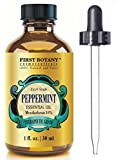 Peppermint Essential Oil 1 fl. oz Menthofuran 10% with Glass Dropper - 100% Natural Premium Grade Best Fresh Scent for Home and Work & Perfect Repellent for Mice and Spiders