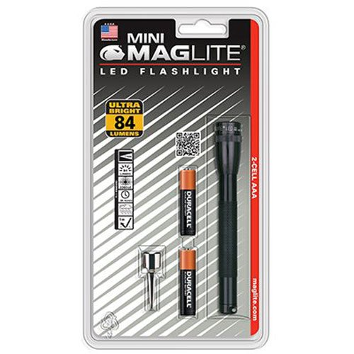 Aaa Minimag Black Flashlight (Maglite Mini LED 2-Cell AAA Flashlight)