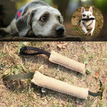 Dog Bite Toys Dog - Handles Jute Dog Bite Tug Play Toy Pet Training Chewing Arm Sleeve - Chase After Canis Familiaris Chomp Miniature - 1PCs
