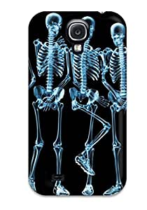 DebAA Snap On Hard Case Cover Funny Shy Skeletons Protector For Galaxy S4