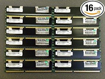 (64GB (16x4GB) HP MEMORY 500203-061 FOR PROLIANT SERVER BL280,BL460,DL160,ML150)