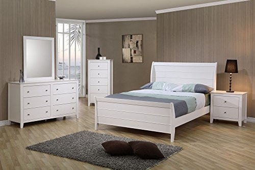 Coaster Home Furnishings Selena 6-Drawer Dresser White - Set includes: One (1) dresser Materials: Asian hardwood and MDF Finish Color: White - dressers-bedroom-furniture, bedroom-furniture, bedroom - 51QodYwrQeL -