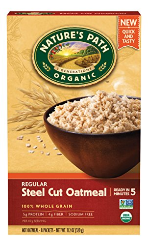 Nature's Path Organic Hot Oatmeal, Regular Steel Cut, 11.2 Ounce (Pack of ()