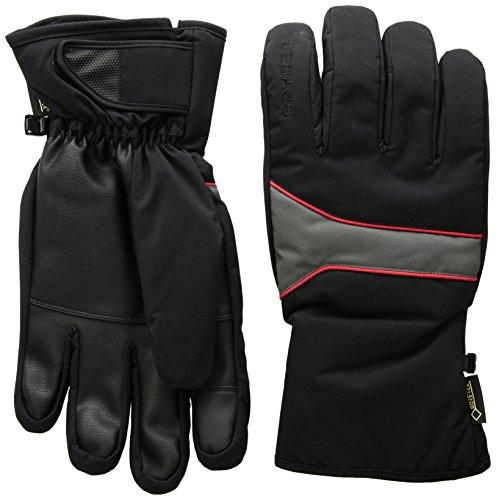 (Spyder Men's Throwback Gore-Tex Ski Glove, Black/Polar/Red, Small)
