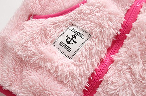 Fleece ZETA Girls Pockets DIKES Outwear Long Puffy Sleeve Pink up Jacket Winter 8T Zipper Coat 2 ggBqrptn